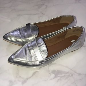 Urban Outfitters BP. Metallic Leather Flats